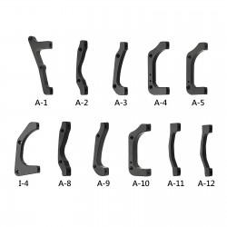 A-3 / adaptateur I.S, Compatible avec avant disque 180mm / arrière disque 160mm, livré avec vis