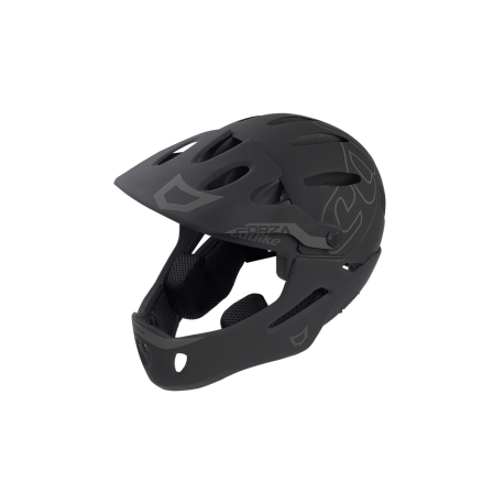 Casque FORZA 2.0 WITH CHIN PROTECTION GLOSSY MATT BLACK