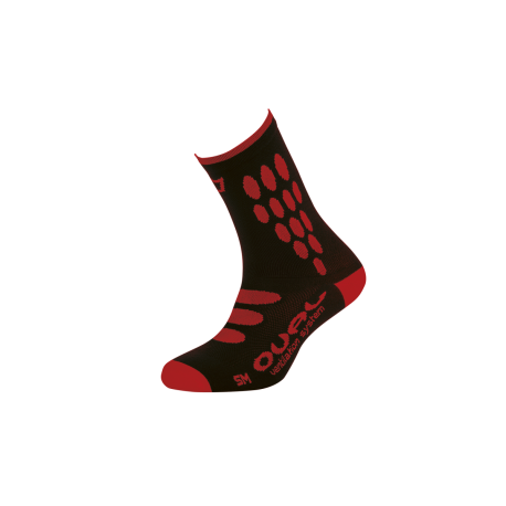Chaussettes OVAL SUPPLEX BLACK RED