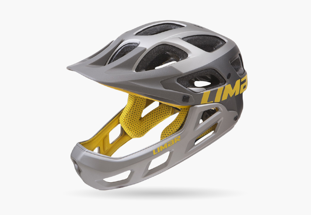 Casque-alpe-matt-grey-yellow-uni