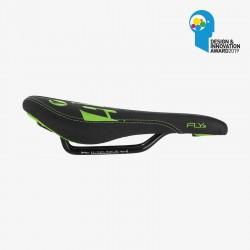 Selle SDG Junior FLY JR - Steel Rails noir/vert fluo