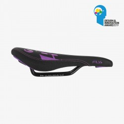 Selle SDG Junior FLY JR - Steel Rails noir/violet