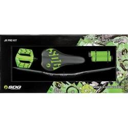 Junior PRO KIT SDG Selle+pédales+poignées+guidon Neon Green