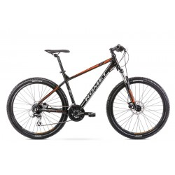 Vélo ROMET MTB 27 pouces RAMBLER R7.2 noir et orange XL