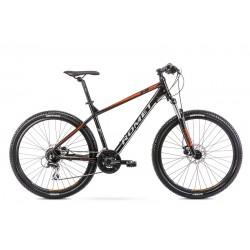 Vélo ROMET MTB 27 pouces RAMBLER R7.2 noir et orange M