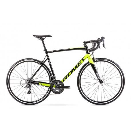 Vélo ROMET ROUTE 28 pouces HURAGAN 2 noir-vert citron S