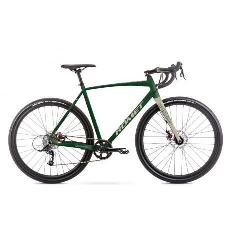Vélo ROMET GRAVEL 28 pouces BOREAS 1 vert foncé-beige M