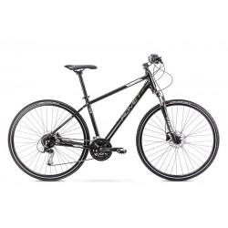 Vélo ROMET CROSS 28 pouces ORKAN 6 M noir-blanc M