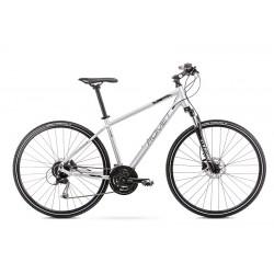 Vélo ROMET CROSS 28 pouces ORKAN 5 M argent-noir L