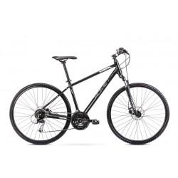 Vélo ROMET CROSS 28 pouces ORKAN 3 M noir-argent L
