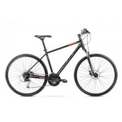 Vélo ROMET CROSS 28 pouces ORKAN 3 M noir et orange L