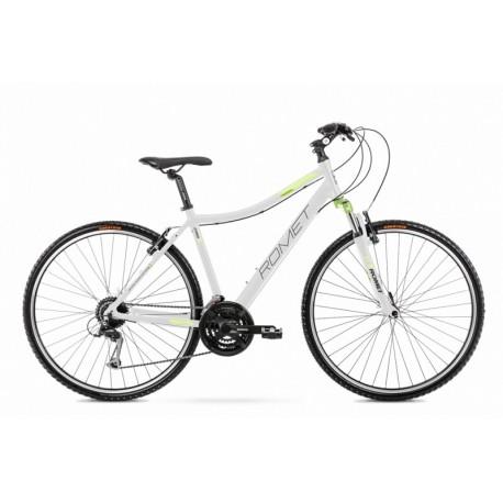 Vélo ROMET CROSS 28 pouces ORKAN 2 D blanc-bleu vert L