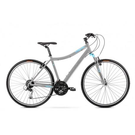 Vélo ROMET CROSS 28 pouces ORKAN 2 D gris-turquoise M