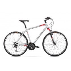 Vélo ROMET CROSS 28 pouces ORKAN 2 M argent-rouge L