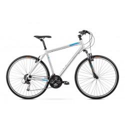 Vélo ROMET CROSS 28 pouces ORKAN 2 M argent-bleu L