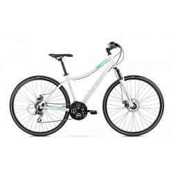 Vélo ROMET CROSS 28 pouces ORKAN 1 D blanc et bleu L