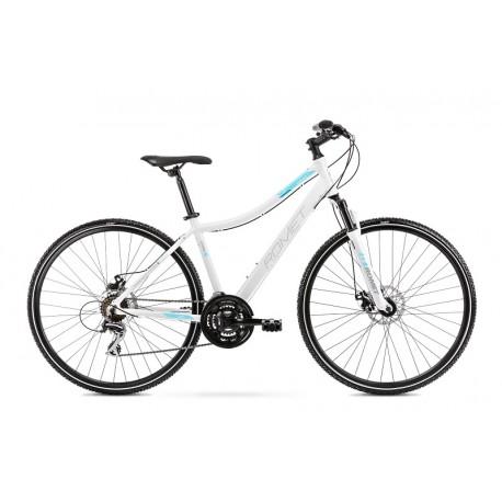 Vélo ROMET CROSS 28 pouces ORKAN 1 D blanc et bleu M