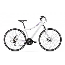 Vélo ROMET CROSS 28 pouces ORKAN 1 D blanc-violet M