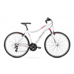 Vélo ROMET CROSS 28 pouces ORKAN D blanc-rose L