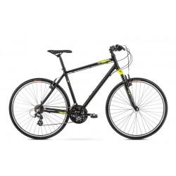 Vélo ROMET CROSS 28 pouces ORKAN M noir-vert citron L