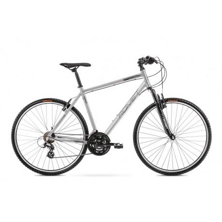 Vélo ROMET CROSS 28 pouces ORKAN M argent-gris L