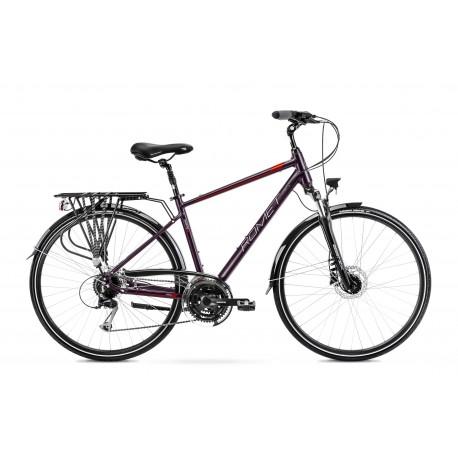 Vélo ROMET TREKKING 28 pouces WAGANT 6 prune L