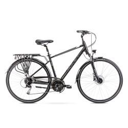 Vélo ROMET TREKKING 28 pouces WAGANT 6 noir-argent M