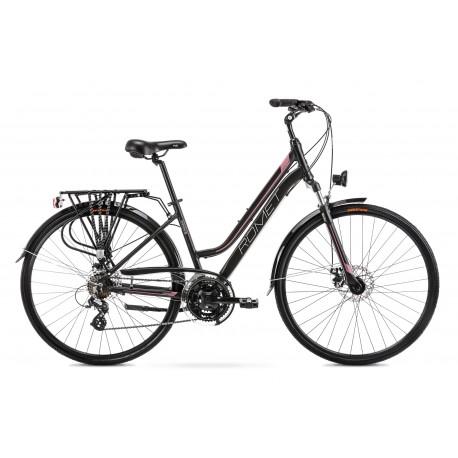 Vélo ROMET TREKKING 28 pouces GAZELA 2 noir-rose M