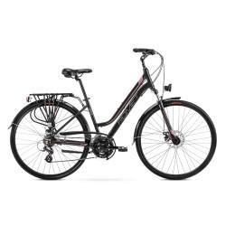 Vélo ROMET TREKKING 28 pouces GAZELA 2 noir-rose L