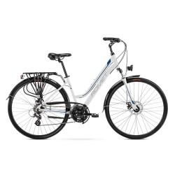 Vélo ROMET TREKKING 28 pouces GAZELA 2 blanc et bleu L