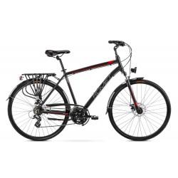 Vélo ROMET TREKKING 28 pouces WAGANT 2 noir-rouge L
