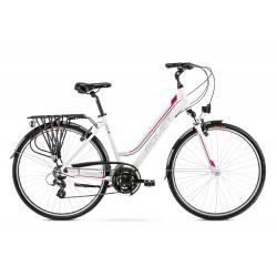 Vélo ROMET TREKKING 28 pouces GAZELA 1 blanc-rose M