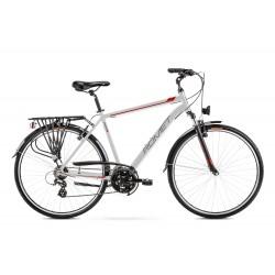 Vélo ROMET TREKKING 28 pouces WAGANT 1 argent-rouge M