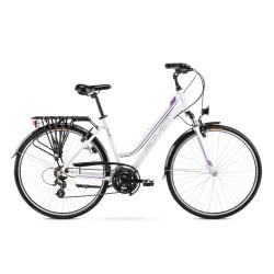 Vélo ROMET TREKKING 28 pouces GAZELA blanc-violet M