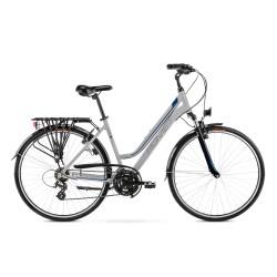 Vélo ROMET TREKKING 28 pouces GAZELA graphite clair-bleu marine M