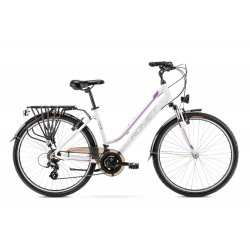 Vélo ROMET TREKKING 26 pouces GAZELA 26 1 blanc-rose S