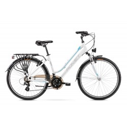 Vélo ROMET TREKKING 26 pouces GAZELA 26 1 blanc et bleu M