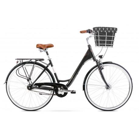 Vélo ROMET CITY 28 pouces ART. DECO LUX noir L