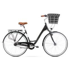 Vélo ROMET CITY 28 pouces ART. DECO LUX noir M