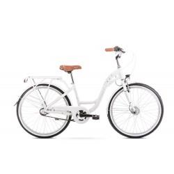 Vélo ROMET JUNIOR 24 pouces PANDA 2 blanc-pêche S