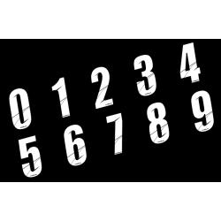Stickers Numéros de plaque